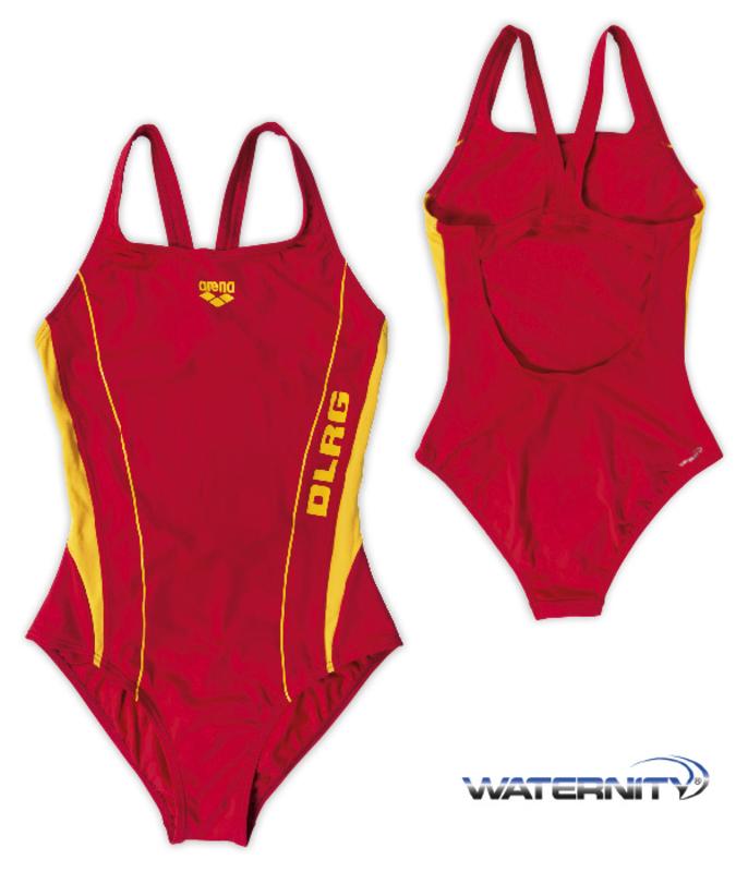 24632279e1e5a2 Schwimmanzug DLRG Swim Pro rot/gelb ARENA